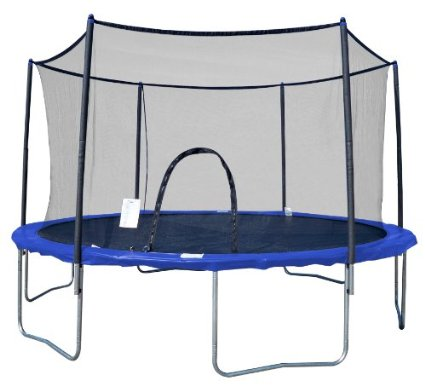 AirZone-Outdoor-Spring-Trampoline-with-Mesh-Padded-Perimeter-Safety-Enclosure-(Multiple Sizes)-View