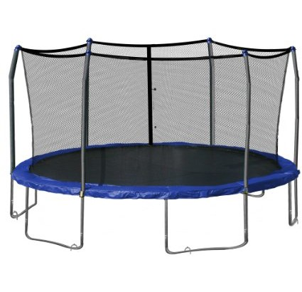 Skywalker-Oval-Trampoline-and-Enclosure-with-Wind-Stakes,-17-Feet-View1