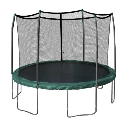Skywalker-Trampolines-12-Feet-Round-Trampoline-and-Enclosure-with-Spring Pad-View1