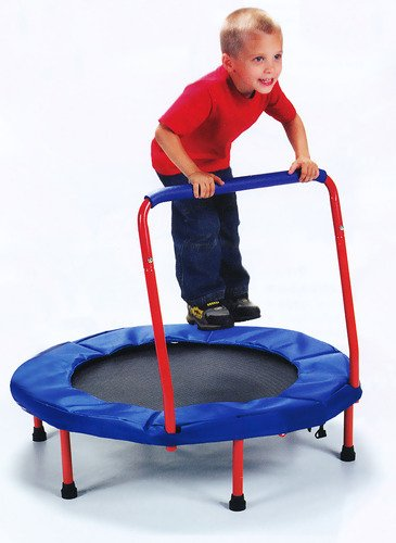 The-Original-Toy-Company-Fold-&-Go-Trampoline-(TM) - Exclusive-Red-Edition-View1