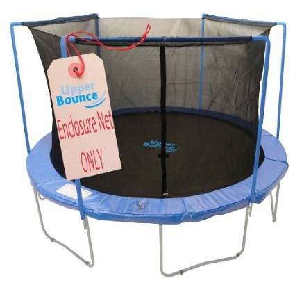 Upper-Bounce-Trampoline-Enclosure-Safety-Net-with-Sleeves-on-Top,-Poles-Sold-Separately-View1