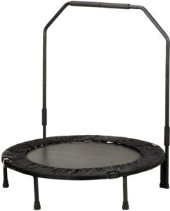 Sunny Health & Fitness 40 in Foldable Trampoline w  bar